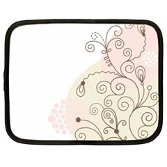 Flower Simple Pink Netbook Case (xl)