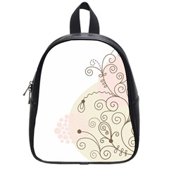Flower Simple Pink School Bag (small)