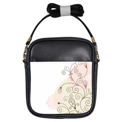 Flower Simple Pink Girls Sling Bags