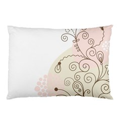 Flower Simple Pink Pillow Case (two Sides)