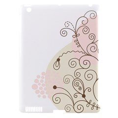 Flower Simple Pink Apple Ipad 3/4 Hardshell Case (compatible With Smart Cover)