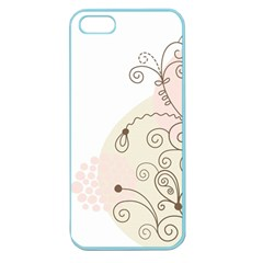 Flower Simple Pink Apple Seamless Iphone 5 Case (color)
