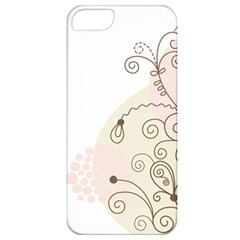 Flower Simple Pink Apple Iphone 5 Classic Hardshell Case
