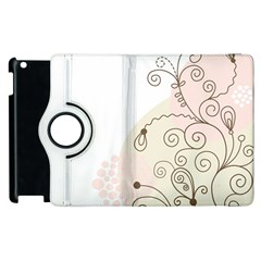 Flower Simple Pink Apple Ipad 2 Flip 360 Case
