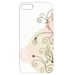 Flower Simple Pink Apple Iphone 5 Hardshell Case With Stand