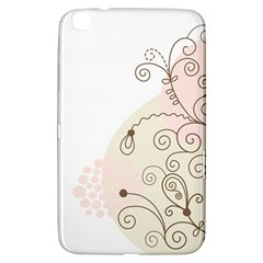 Flower Simple Pink Samsung Galaxy Tab 3 (8 ) T3100 Hardshell Case