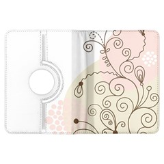 Flower Simple Pink Kindle Fire Hdx Flip 360 Case