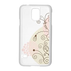 Flower Simple Pink Samsung Galaxy S5 Case (white)