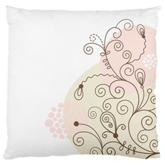 Flower Simple Pink Standard Flano Cushion Case (one Side)