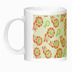 Flower Rose Red Green Sunflower Star Night Luminous Mugs