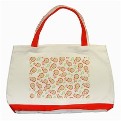 Flower Rose Red Green Sunflower Star Classic Tote Bag (red)