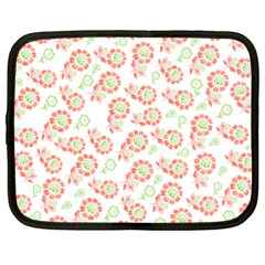 Flower Rose Red Green Sunflower Star Netbook Case (large)