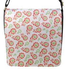 Flower Rose Red Green Sunflower Star Flap Messenger Bag (s)
