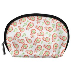 Flower Rose Red Green Sunflower Star Accessory Pouches (large)