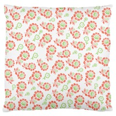 Flower Rose Red Green Sunflower Star Standard Flano Cushion Case (two Sides)