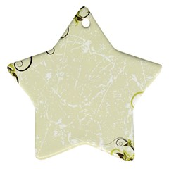 Flower Star Floral Green Camuflage Leaf Frame Star Ornament (two Sides)