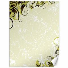 Flower Star Floral Green Camuflage Leaf Frame Canvas 36  X 48
