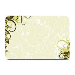 Flower Star Floral Green Camuflage Leaf Frame Plate Mats