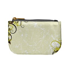 Flower Star Floral Green Camuflage Leaf Frame Mini Coin Purses