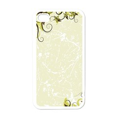 Flower Star Floral Green Camuflage Leaf Frame Apple Iphone 4 Case (white)