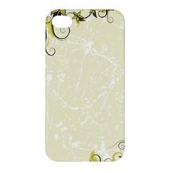 Flower Star Floral Green Camuflage Leaf Frame Apple Iphone 4/4s Premium Hardshell Case