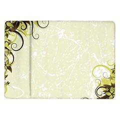 Flower Star Floral Green Camuflage Leaf Frame Samsung Galaxy Tab 10 1  P7500 Flip Case