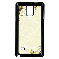 Flower Star Floral Green Camuflage Leaf Frame Samsung Galaxy Note 4 Case (black)