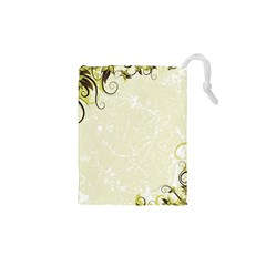 Flower Star Floral Green Camuflage Leaf Frame Drawstring Pouches (xs)