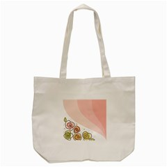 Flower Sunflower Wave Waves Pink Tote Bag (cream)