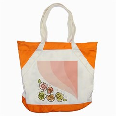 Flower Sunflower Wave Waves Pink Accent Tote Bag