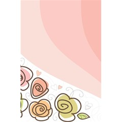 Flower Sunflower Wave Waves Pink 5 5  X 8 5  Notebooks
