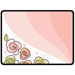 Flower Sunflower Wave Waves Pink Fleece Blanket (large)