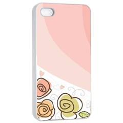 Flower Sunflower Wave Waves Pink Apple Iphone 4/4s Seamless Case (white)