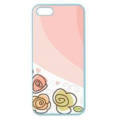 Flower Sunflower Wave Waves Pink Apple Seamless Iphone 5 Case (color)