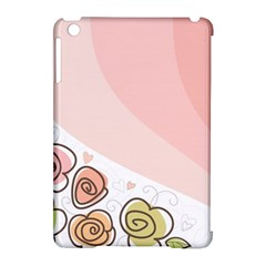 Flower Sunflower Wave Waves Pink Apple Ipad Mini Hardshell Case (compatible With Smart Cover)