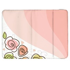 Flower Sunflower Wave Waves Pink Samsung Galaxy Tab 7  P1000 Flip Case