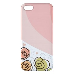 Flower Sunflower Wave Waves Pink Iphone 5s/ Se Premium Hardshell Case