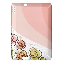 Flower Sunflower Wave Waves Pink Kindle Fire Hdx Hardshell Case