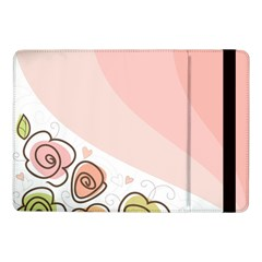 Flower Sunflower Wave Waves Pink Samsung Galaxy Tab Pro 10 1  Flip Case