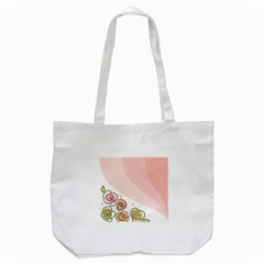 Flower Sunflower Wave Waves Pink Tote Bag (white)