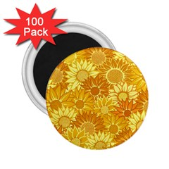 Flower Sunflower Floral Beauty Sexy 2 25  Magnets (100 Pack)