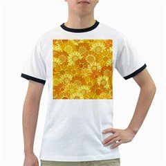 Flower Sunflower Floral Beauty Sexy Ringer T Shirts