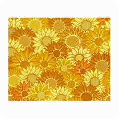 Flower Sunflower Floral Beauty Sexy Small Glasses Cloth (2 Side)