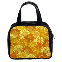 Flower Sunflower Floral Beauty Sexy Classic Handbags (2 Sides)