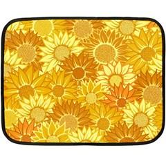 Flower Sunflower Floral Beauty Sexy Double Sided Fleece Blanket (mini)