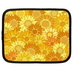 Flower Sunflower Floral Beauty Sexy Netbook Case (xl)