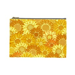 Flower Sunflower Floral Beauty Sexy Cosmetic Bag (large)