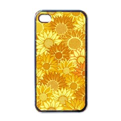 Flower Sunflower Floral Beauty Sexy Apple Iphone 4 Case (black)