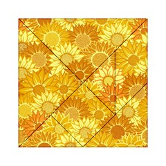 Flower Sunflower Floral Beauty Sexy Acrylic Tangram Puzzle (6  X 6 )