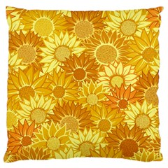 Flower Sunflower Floral Beauty Sexy Large Cushion Case (one Side)